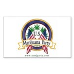 US Marijuana Party Rectangle Sticker