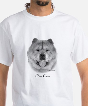 Smooth Chow Chow White T-Shirt