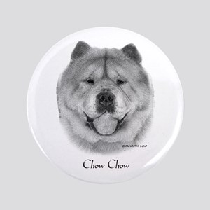 """Smooth Chow Chow 3.5"""" Button"""