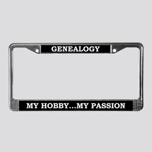Genealogy License Plate Frame