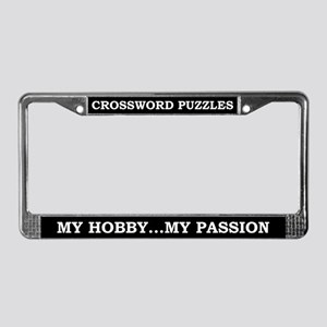 Crossword Puzzles License Plate Frame