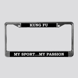Kung Fu License Plate Frame