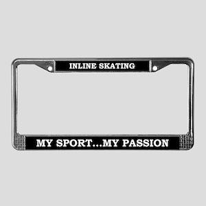 Inline Skating License Plate Frame