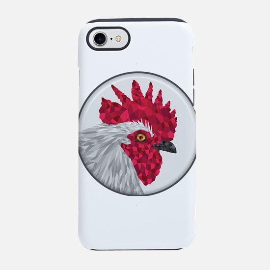 Red and White Rooster in Cut P iPhone 7 Tough Case