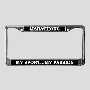 Marathons License Plate Frame