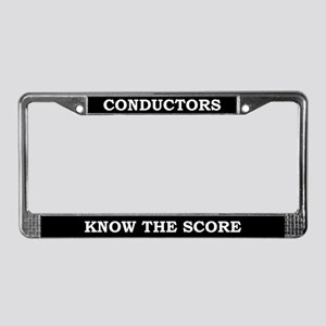 Conductors License Plate Frame