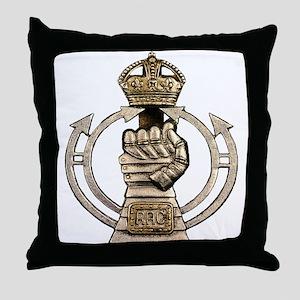 Royal Armoured Corps Throw Pillow