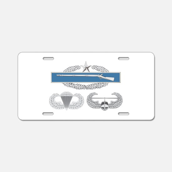 CIB 2nd Airborne Air Assaul Aluminum License Plate