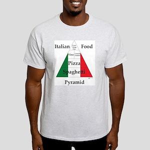 Italian Food Pyramid Light T-Shirt
