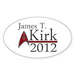 James Kirk 2012 Sticker (Oval 10 pk)