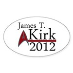 James Kirk 2012 Sticker (Oval 50 pk)