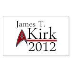 James Kirk 2012 Sticker (Rectangle 50 pk)