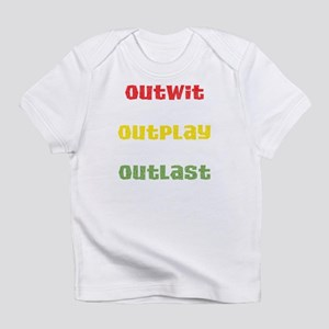 Outwit, Outlast, Outplay Rast Infant T-Shirt