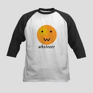 Funny Whatever Smiley Kids Baseball Jersey