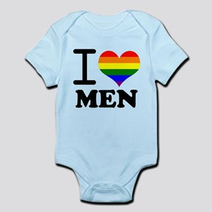 Gay Pride - I love men Infant Bodysuit
