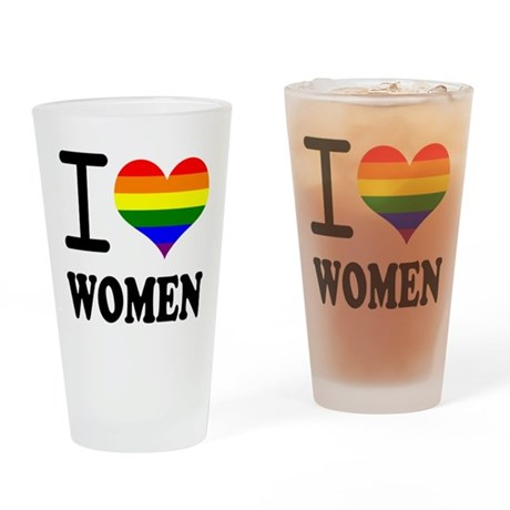 lesbian pride and gay pride - Pint Glass