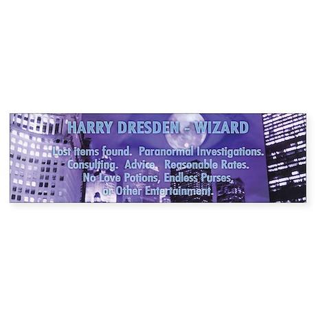 Harry Dresden Bumper Sticker