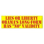 Lies or Liberty Bumper Sticker 10 pk