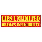 Lies Unlimited Bumper Sticker 10 pk