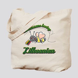 Awesome Being Lithuanian Tote Bag