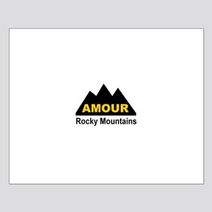 Amour Rocky Mountains Small Poster
