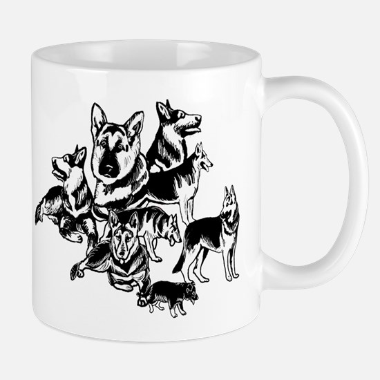 GSD Black and White collage Mug