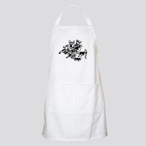 GSD Black and White collage Apron
