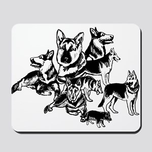 GSD Black and White collage Mousepad