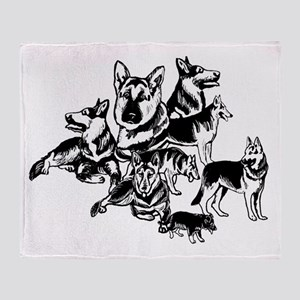 GSD Black and White collage Throw Blanket