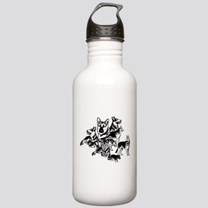 GSD Black and White collage Stainless Water Bottle
