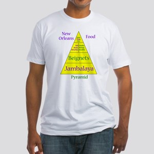New Orleans Food Pyramid Fitted T-Shirt