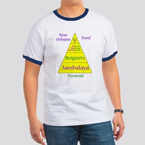 New Orleans Food Pyramid Ringer T