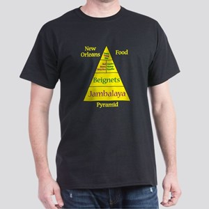 New Orleans Food Pyramid Dark T-Shirt