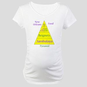 New Orleans Food Pyramid Maternity T-Shirt