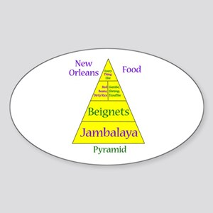 New Orleans Food Pyramid Sticker (Oval)