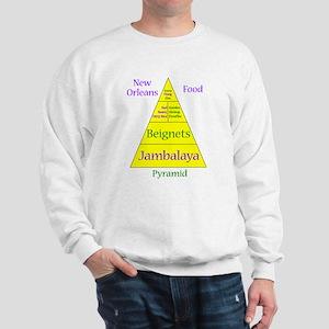 New Orleans Food Pyramid Sweatshirt