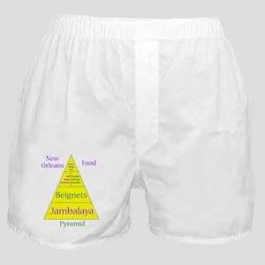 New Orleans Food Pyramid Boxer Shorts