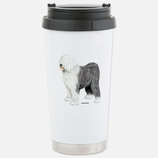 Old English Sheepdog Stainless Steel Travel Mug