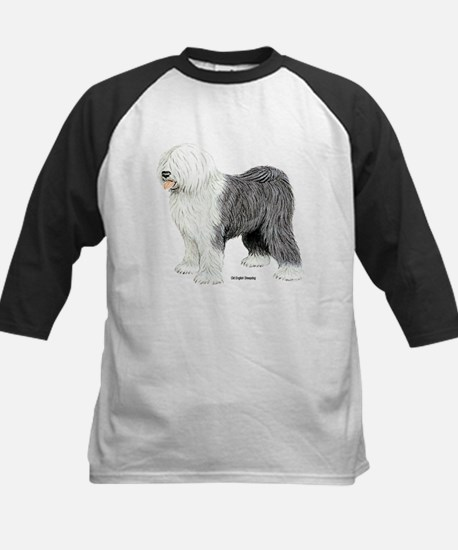Old English Sheepdog Kids Baseball Jersey