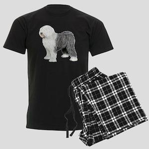 Old English Sheepdog Men's Dark Pajamas
