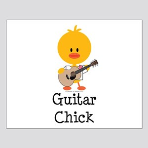 Guitar Chick Small Poster