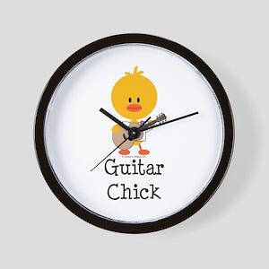 Guitar Chick Wall Clock
