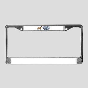 American Quarter Horse License Plate Frame
