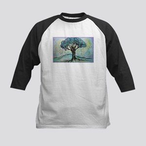 Tree, Colorful, Kids Baseball Jersey