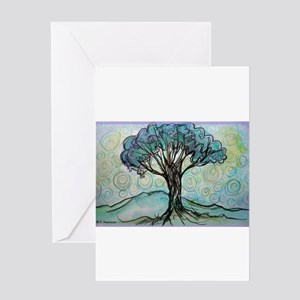 Tree, Colorful, Greeting Card