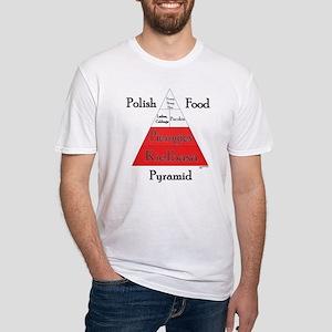 Polish Food Pyramid Fitted T-Shirt