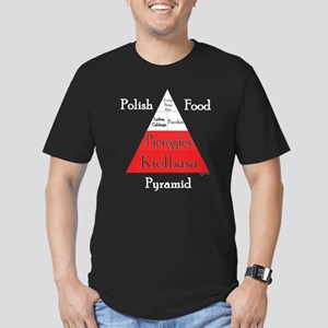 Polish Food Pyramid Men's Fitted T-Shirt (dark)