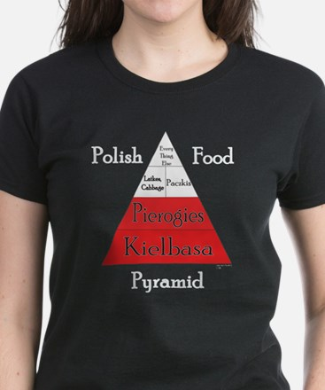 Polish Food Pyramid Women's Dark T-Shirt