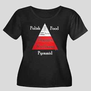 Polish Food Pyramid Women's Plus Sz Scoop Dark Tee