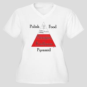 Polish Food Pyramid Women's Plus Size V-Neck T